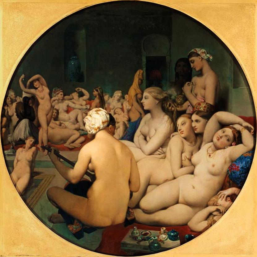 EL BAÑO TURCO (1862) JEAN BAPTISTE INGRES. Francia, MAESTRO ABSOLUTO DEL NEOCLASICISMO, PINTOR DE LA  REVOLUCIÓN Y FRANCESA Y DE LA RESTAURACIÓN CONSERVADORA. MUSEO DEL LOUVRE.